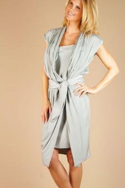 Wrap dress Simply   light blue