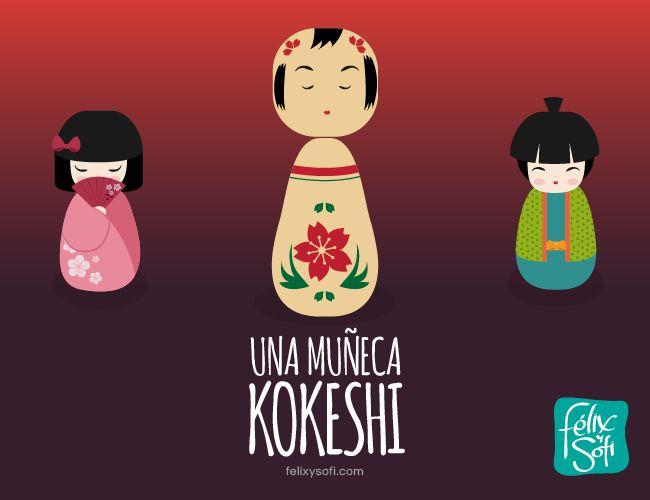 Una muñeca Kokeshi  
