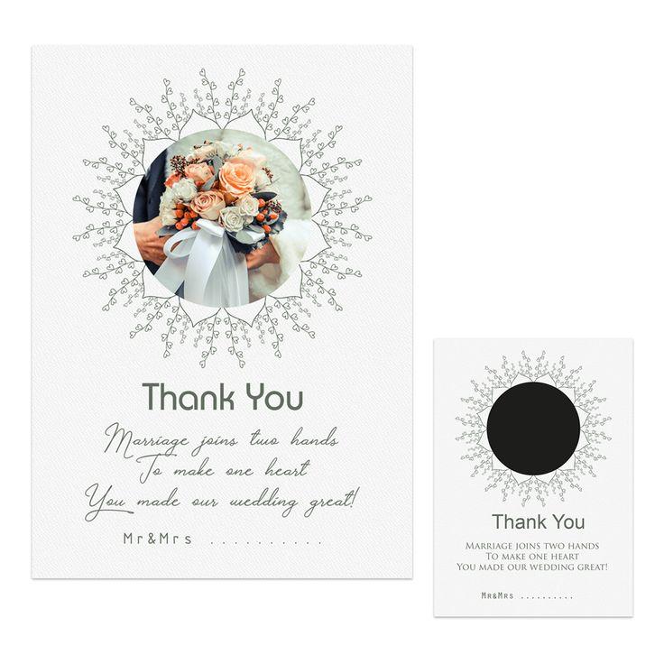 Bedankt kaart-flyer wedding 1