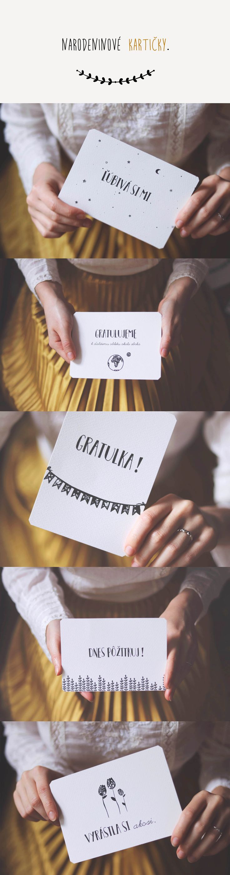 Narodeninové kartičky / PDF na stiahnutie