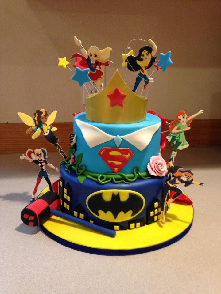 Super Hero Girls Cakes In 2019 Superhero Birthday Cake
