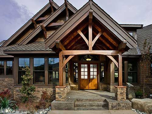 plan 23284jd luxury craftsman with front to back views mountain home - Rustic Mountain Home Designs