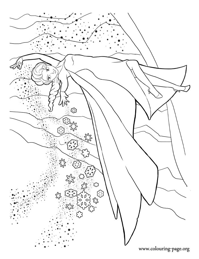 The beautiful princess Elsa has the ability to create snow and ice. Enjoy with this amazing Disney Frozen coloring page!
