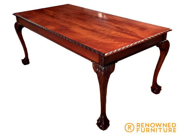 Chippendale table Damaged by Water  This gorgeous Chippendale table was damaged by water. After we repaired the damage to the foot, sanded it back and refinished it, it's looking clean and brand new again.   http://renownedfurniture.com.au/restoration/chippendale-table-damaged-by-water/  #Chippendale #restoration #furniture #renownedfurniture