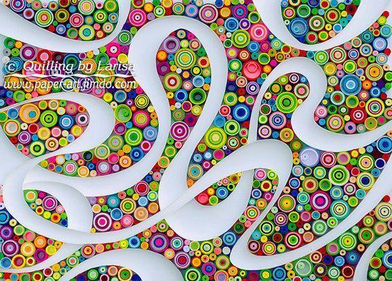Quilling Quilling Kunst Quilling Wall Paper quilling gerahmt Geschenk Geburtstag Dekoration Design Handmade quilling Kunst quilling   Dies ist ein wunderbares Einzelstück der Kunst. Es ist eine atemberaubende Illustration mit bunten Papierstreifen erstellt. Ich habe es in einer Technik bekannt als Papier quilling oder Grafik quilling.  Es ist vollständig handgemacht, nur Pappe und Office-Papier zu verwenden.  Das Kunstwerk ist sehr bunt und Frohsinn und viel positive Emotionen für Sie geben…