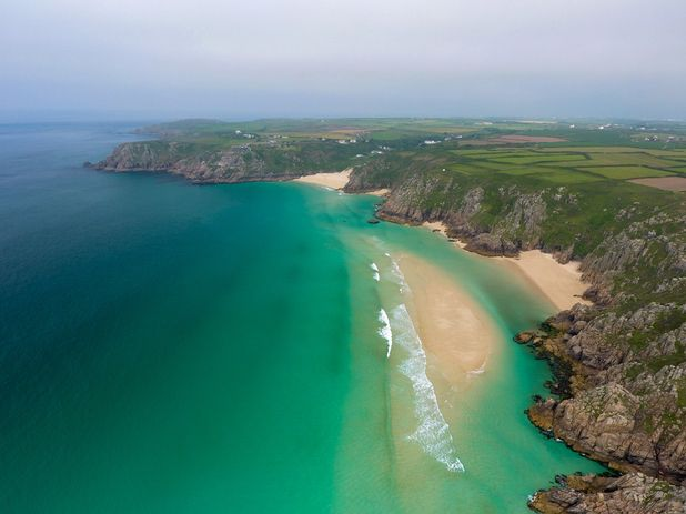The beaches of Porthcurno