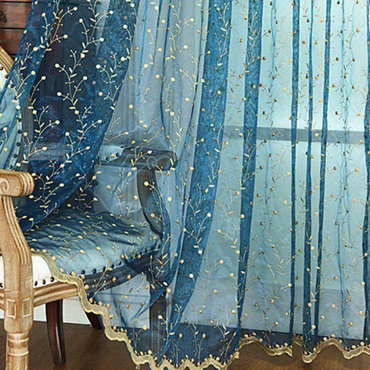 Маленький цветочный вышитый тюль шторы для гостиной окно Sheer дверь кухни Шторы для детей 5 видов Цвет занавес 1 шт.купить в магазине Super Household . StoreнаAliExpress