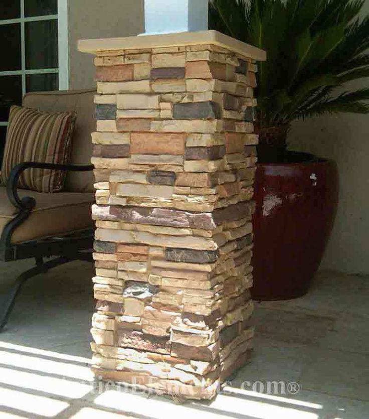 25 best ideas about faux stone panels on pinterest faux for Faux wood exterior columns