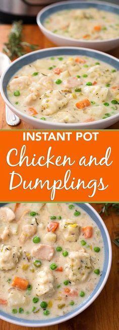 Pressure cooker chicken and dumplings