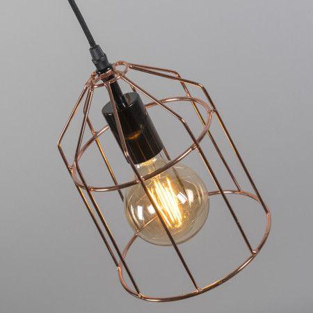 Lámpara colgante FRAME B cobre #diseño #iluminacion #decoracion
