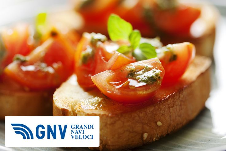 Traditional #food of #Tuscany, the #bruschetta is made with juicy #tomatoes on fresh #bread & #oregano, #basil or #pesto as topping.    Discover #GNV routes from/to #Italy here: http://www.gnv.it/en/
