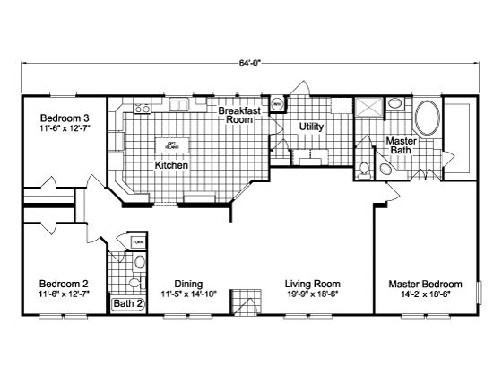 the bonanza vr32643a 3 bedrooms 2 baths 1 984 sq ft double wide mobile home floor plans