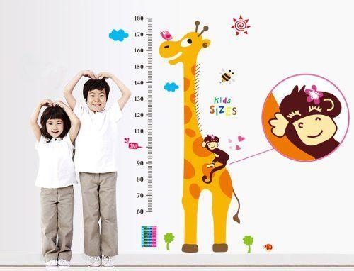 Free Will Tall Giraffe Height Chart with Kids Sizes Wall Decal Nursery Room Wall Decor Sticker Free Will http://www.amazon.com/dp/B00KD5RKLE/ref=cm_sw_r_pi_dp_iTHJtb1P8Y2STERJ