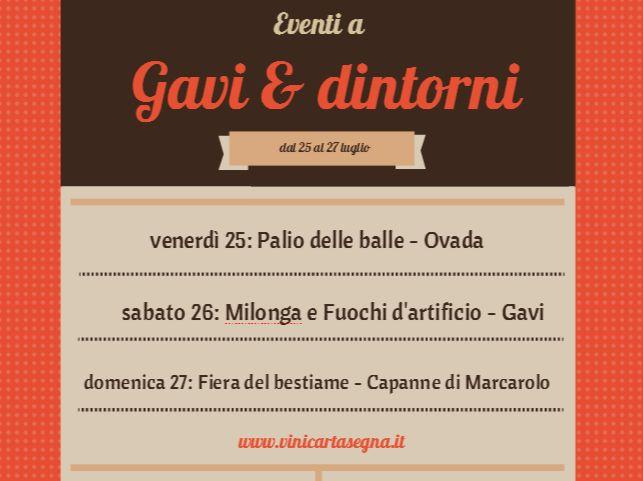 Eventi a Gavi (AL) e dintorni dal 25 al 27 luglio 2014