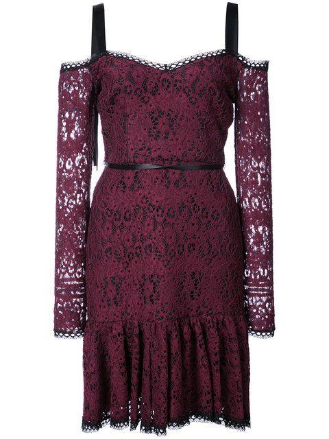 Shop Alexis lace mini dress with tie straps.