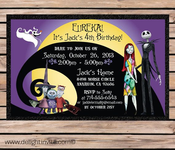 17 Best images about Ideas for Evas 9th Birthday – Nightmare Before Christmas Birthday Invitations