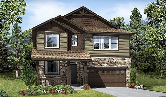 Dickinson-D29F-Traditions Aurora CO Elevation A Rend | Dickinson floor plan | Richmond American Homes |