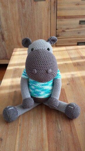 Nijlpaard nikki Patroon van Stip en haak