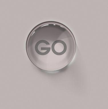 Glass element button
