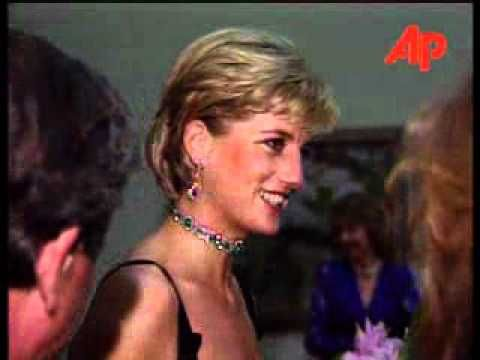 Diana was a guest of honor at an event on her 36th birthday held at the Tate Gallery in London.  Also, footage of Diana attending the funeral of Gianni Versace.