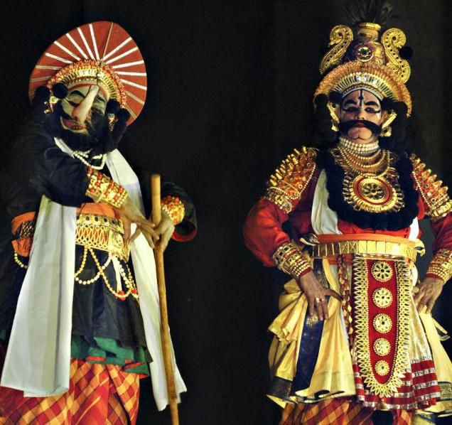 yakshagana face painting - Google Search