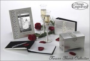 Forever Hearts Wedding Collection http://www.thingsengraved.ca/products.php?s=x_%22forever+hearts%22  #thingsengraved #thingsengravedgifts