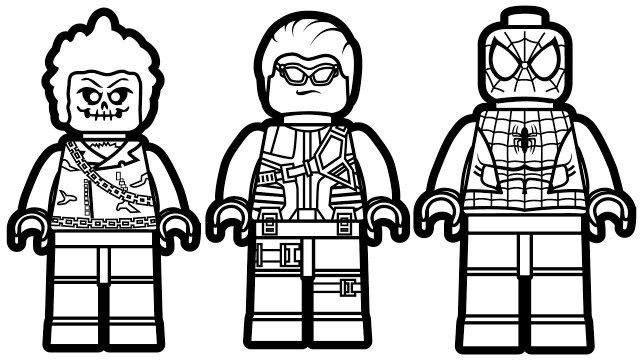lego spiderman coloring pages lego
