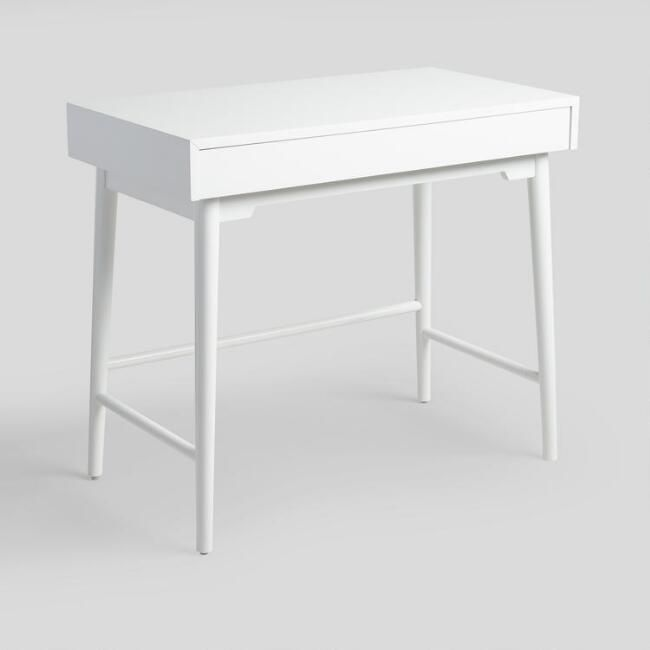 White Wood Zola Desk V1 White Desk Bedroom Small White Desk