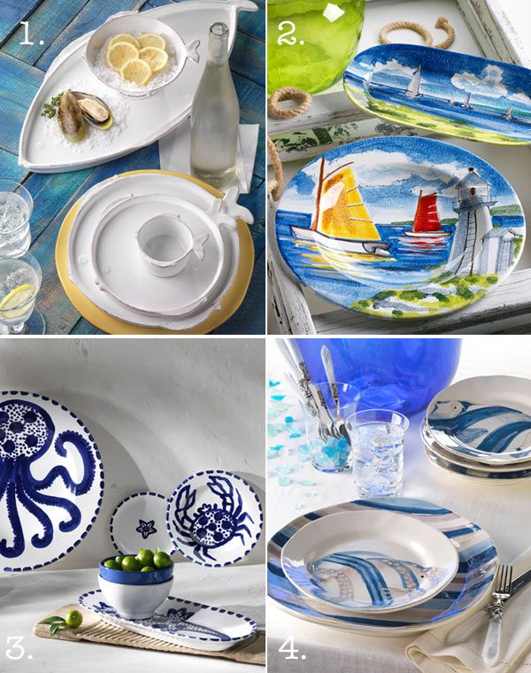 Nautical Dishes and Nautical Decor  sc 1 st  Pinterest & 18 best Nautical glasses u0026 dinnerware images on Pinterest | Crystals ...