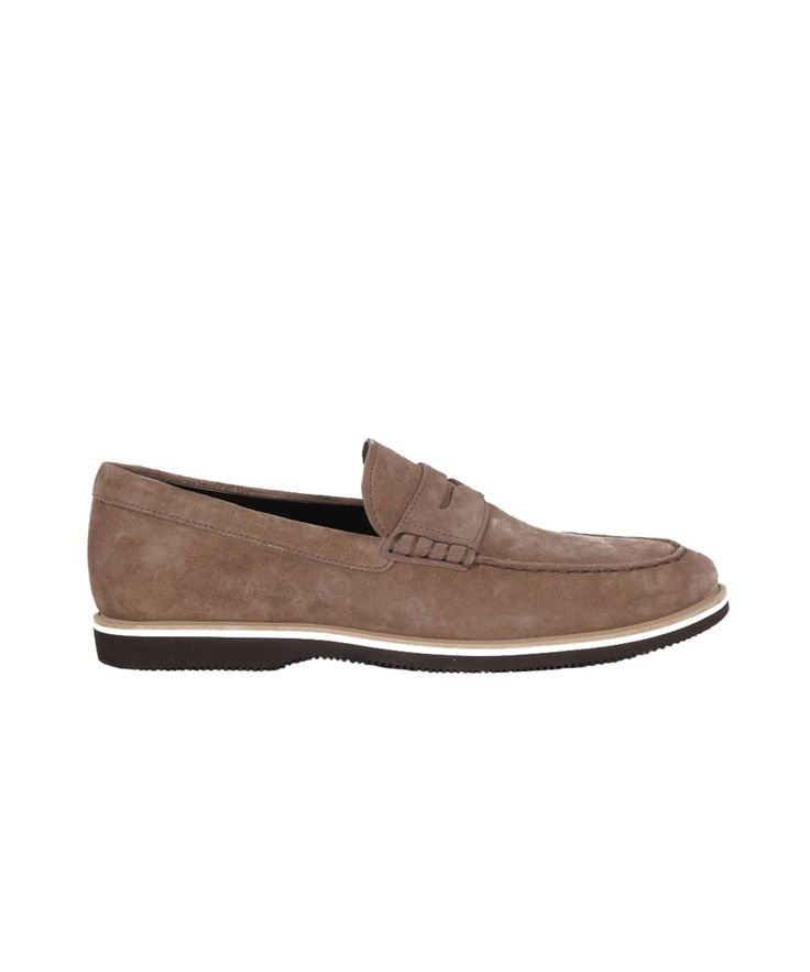 HOGAN Hogan Men'S  Brown Suede Loafers'. #hogan #shoes #loafers