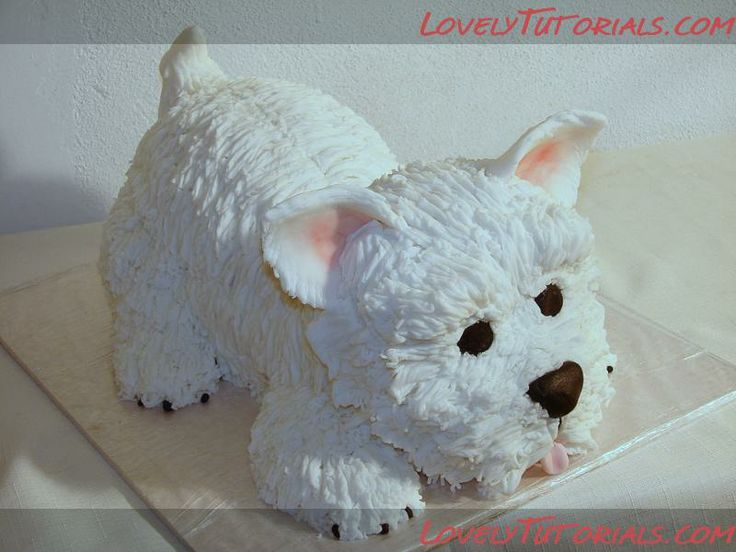3Д Терьер МК -carved terrier dog cake tutorial - Мастер-классы по украшению тортов Cake Decorating Tutorials (How To's) Tortas Paso a Paso