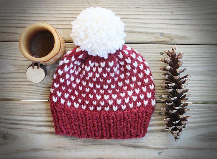 Fair Isle Pom Hat from Tinker Creek Handknits