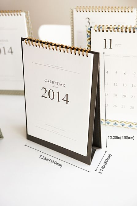 MochiThings.com: 2014 Pattern Desk Calendar