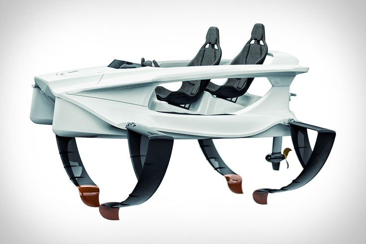 Enjoy a smooth, comfortable, sporty ride over the water without wasting gas aboard the Quadrofoil. This dual-seat watercraft uses C-foil technology to lift the vessel above the water, reducing water resistance, increasing efficiency, and creating a feeling of flying. It's...