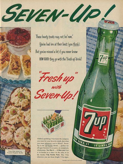 #Publicidad de antaño de la #Soda #Gaseosa Refrescante  #7up vintage ad…