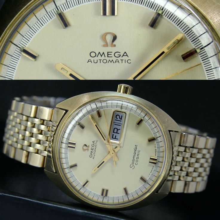 1969s Vintage OMEGA Seamaster Cosmic 752 Automatic Day Date Mens Watch & Band