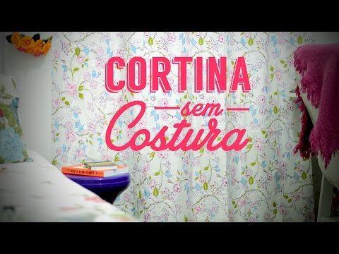 Como fazer uma cortina sem costura para o quarto | DIY - Decoração - YouTube