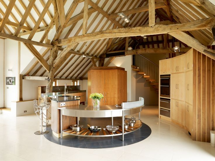 Barn Conversion Ideas Part - 33: Kitchen In A Barn Conversion With Round Central Island