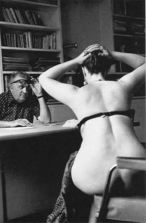 Federico Fellini - casting actresses for the film Casanova, Paris, 1975