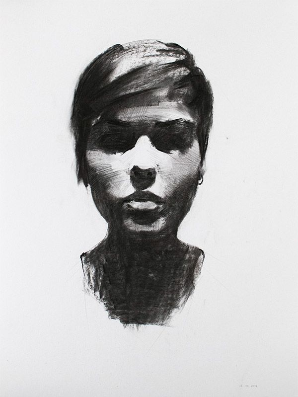 Charcoal Portrait Studies on Behance