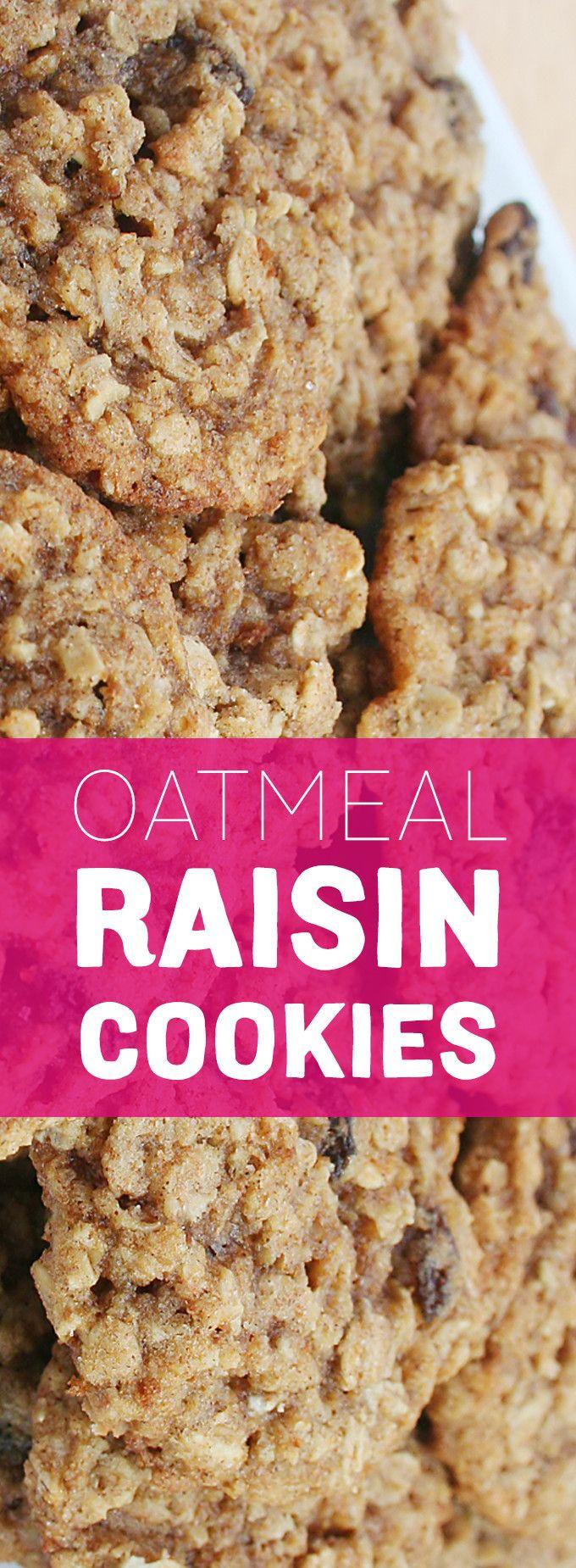 oatmeal raisin cookies oatmeal raisins snack recipes baking recipes ...