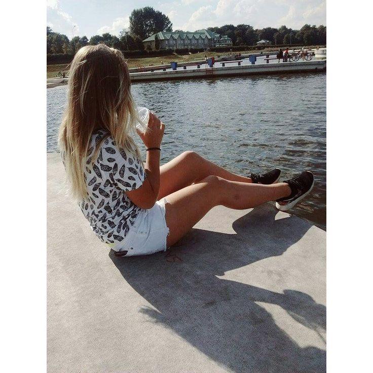#photo #foto #teenager #malta #lake #ombre #hair #ombrehair #rosherun #nike #pinacolada #delicious