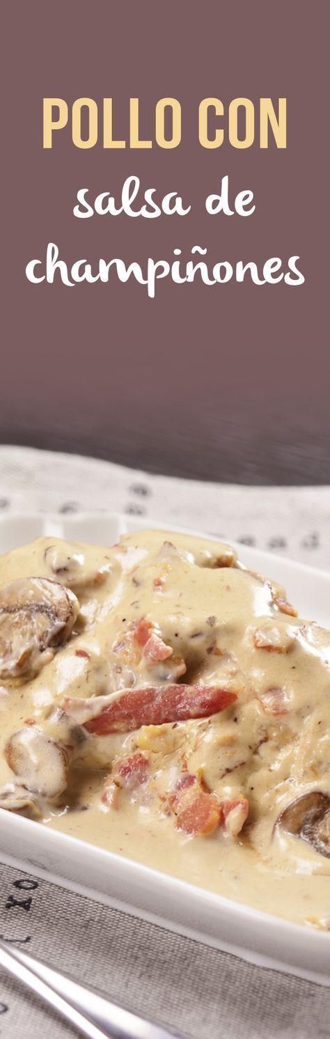 Esta receta de pechugas de pollo en una cremosa y deliciosa salsa de champiñones con tocino es irresistible. Prepárala a la hora de la comida y no te quedes con el antojo, lo mejor es que todo se prepara todo en un mismo sartén