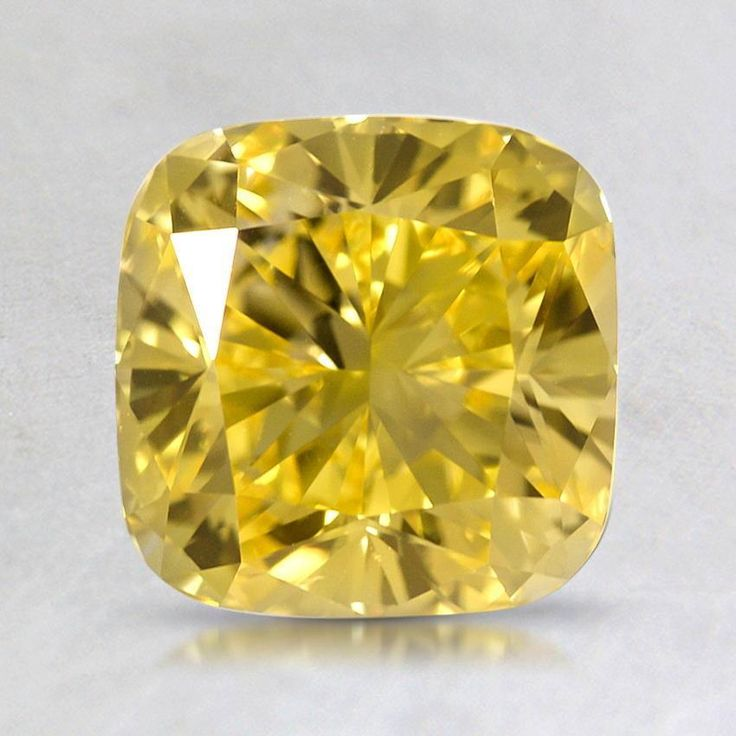1.92 ct. Lab Created Fancy Vivid Yellow Cushion Diamond from Brilliant Earth