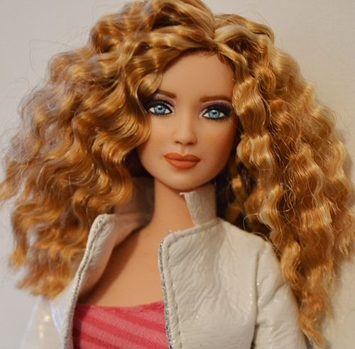 101 Best Images About Doll Curly Hair Beauty On Pinterest Pink Satin Dress Barbie And Barbie