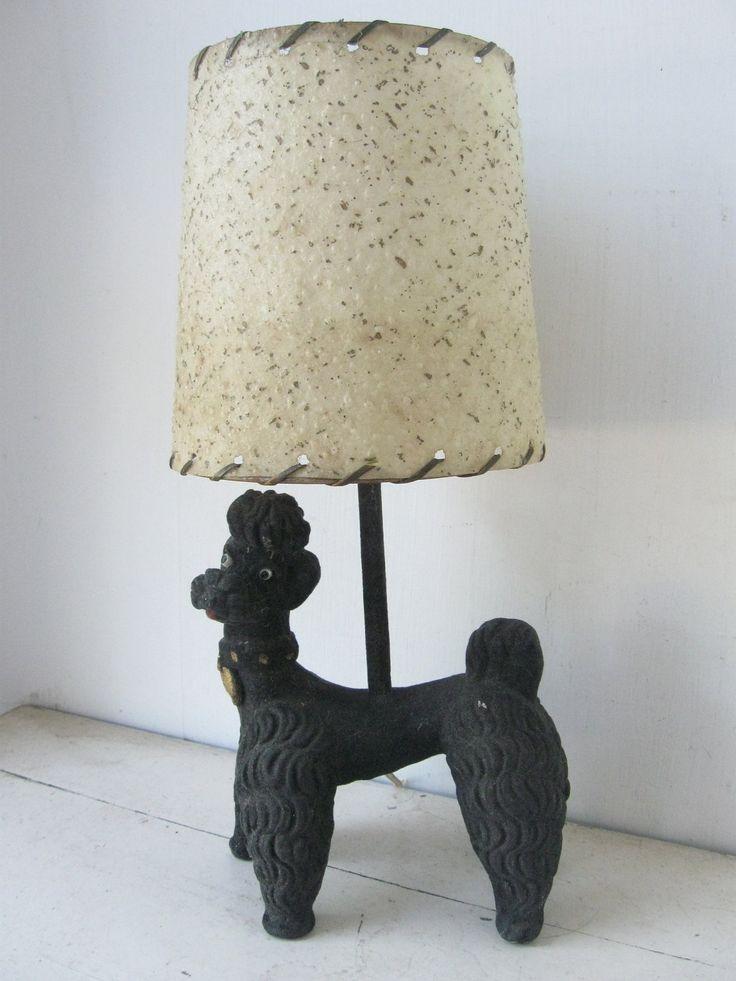 Kitschy 1950 S Black Poodle Lamp Vintage Lamps Retro