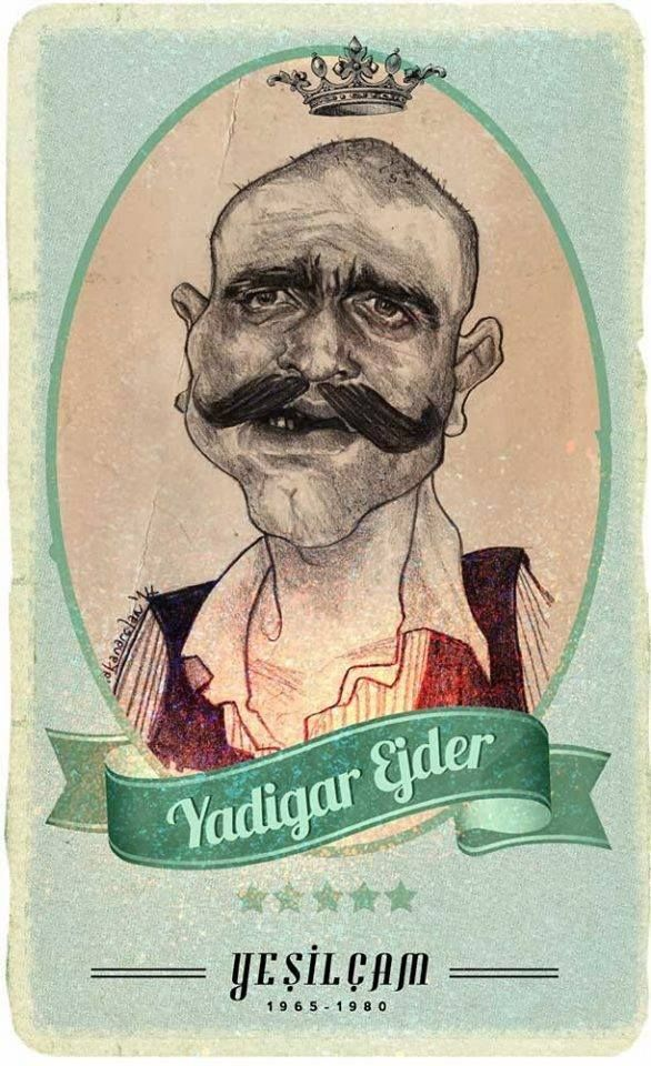 #Yesilcam Turkish Cinema Actor Yadigar Ejder #Illustration by Hakan Arslan Yeşilçam Kötüleri Hakan Arslan http://hakkanarslan.blogspot.com.tr/search?updated-max=2014-09-18T14:36:00-07:00&max-results=500&m=1