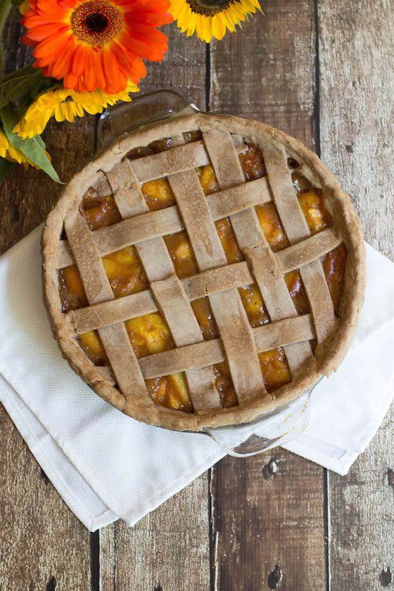 Spiced Peach Pie (vegan & glutenfrei) über Food by Mars Cassava Mehl, Ei & Nuss …   – Thanksgiving 2015