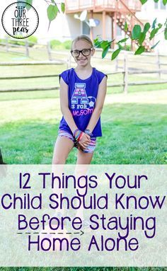If you have older kids, check out this list of 12 things your child should know before staying home alone, so they can be more prepared for this major step!