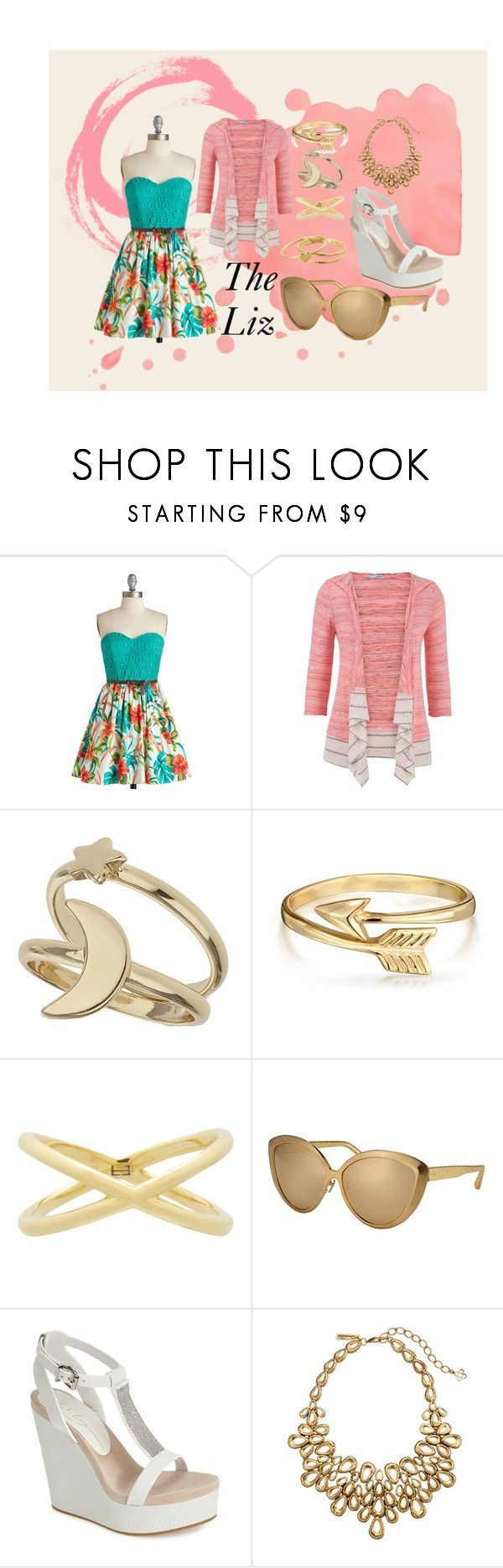 """Untitled #19"" by anonymousleaf ❤ liked on Polyvore featuring maurices, Miss Selfridge, Bling Jewelry, Eva Fehren, Linda Farrow, Lola Cruz, Oscar de la Renta and Gorjana"